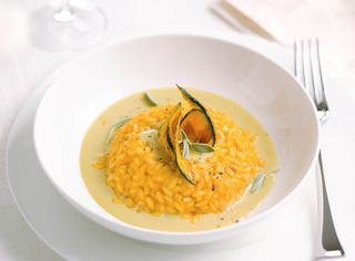 Ricetta Risotto alla zucca con salsa di gorgonzola dolce