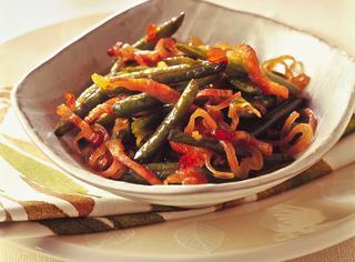 Ricetta Fagiolini con scalogni e pancetta croccante