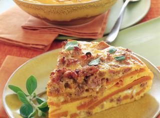 Ricetta Frittata al forno con zucca e salsiccia
