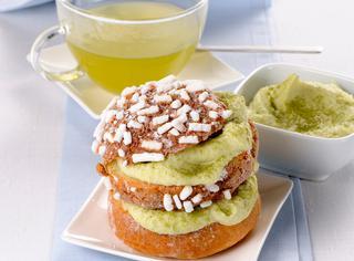 Veneziane farcite con crema al tè verde