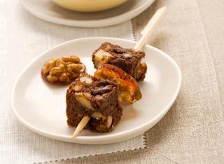 Brownies alle noci con crema di zabaione
