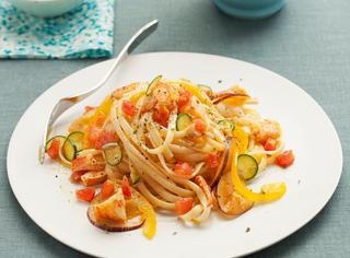 Ricetta Pasta fredda con astice e verdure crude