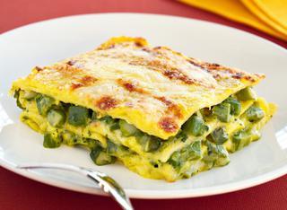 Ricetta Lasagne allo zafferano con asparagi