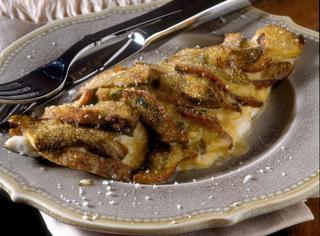 Ricetta Filetti di pesce gratinati con funghi