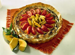 Ricetta Torta salata di zucca ai pomodori