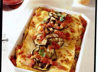 Lasagne con ricotta e melanzane