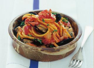 Ricetta Pasta all'amatriciana con le cozze