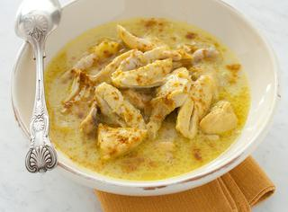Zuppa di pollo al curry