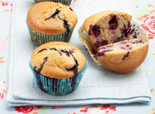 Muffin con yogurt e mirtilli
