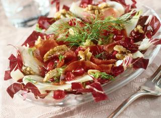 Ricetta Radicchio, noci e bresaola