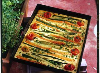Farinata di ceci arricchita alle verdure