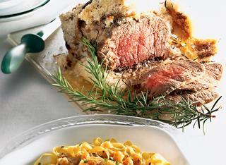 Roast beef al sale con rosmarino