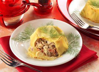 Ricetta Pasta all'uovo ripiena al ragù