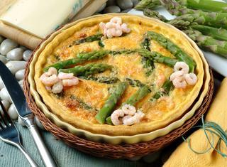 Ricetta Tortino di asparagi e gamberetti