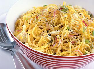 Spaghetti limone e pecorino
