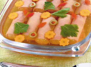 Ricetta Involtini di prosciutto cotto in gelatina al limone