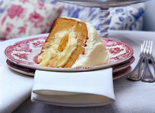 Torta farcita all'arancia e cannella