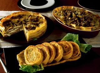 Lasagne con patate, carciofi e crescenza