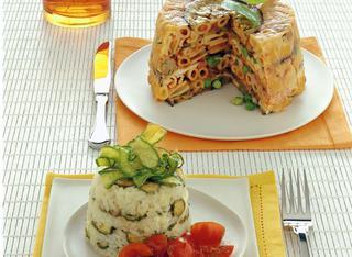 Piccoli sartù di riso e zucchine
