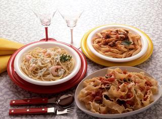 Spaghetti con gamberetti alla crema