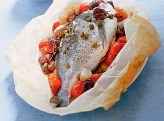 Orata pomodorini e olive