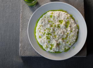 Ricetta Risotto al gorgonzola e olio piccante e rucola