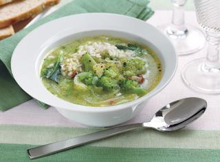 Minestra di riso e broccoli