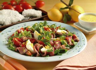 Roast beef al sale in insalata