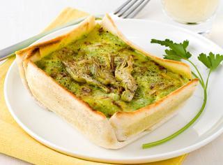 Lasagne ai carciofi in crosta