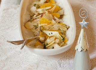 Ricetta Insalata di carciofi, mela e arancia