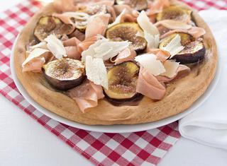 Ricetta Pizza di farro con fichi