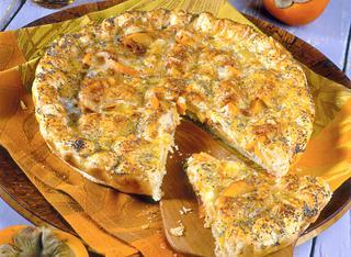 Sfogliata di kaki al Camembert