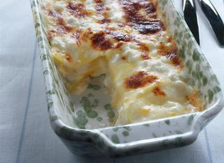 Lasagne con ricotta e fontina