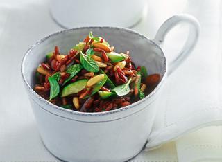 Ricetta Riso rosso con zucchine e menta