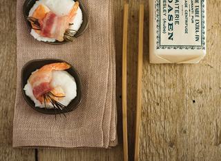 Ricetta Polenta bianca con code di gambero e bacon