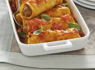 Ricetta Cannelloni di carne al pomodoro e basilico
