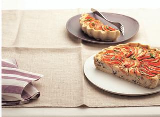 Crostata di ricotta e pomodorini