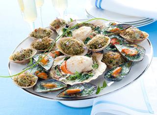Ricetta Frutti di mare gratinati