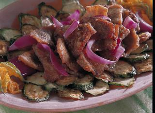 Scaloppine in carpione con zucchine