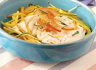 Carpaccio di pollo con verdure