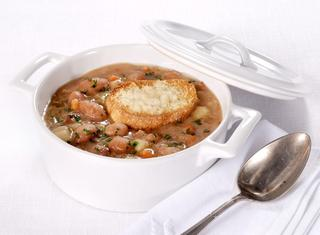 Zuppa cremosa di borlotti e patate