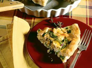 Torta con gamberetti e zucchine