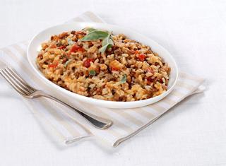 Panissa speciale con lenticchie e salsiccia