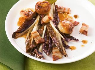 Radicchio di Treviso con cipolline e pancetta