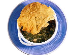 Zuppa di porri in crosta