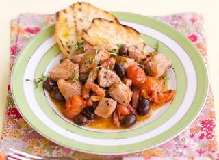 Spezzatino di lonza alle olive taggiasche