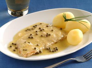 Ricetta Scaloppine al pepe verde e senape