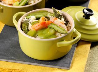 Ricetta Riso con asparagi e gamberi al forno