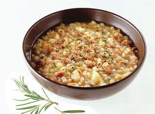 Ricetta Zuppa di cereali e prosciutto