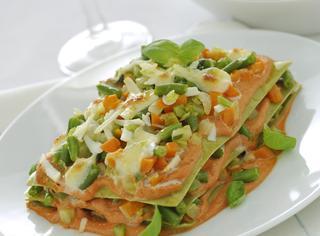 Ricetta Lasagne verdi con verdure e ricotta